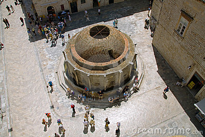 Onofrijeva Fountain in Dubrovnik