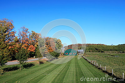 Ontario farm land in autumn