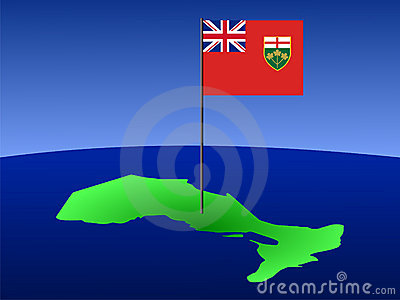 Ontario with flag