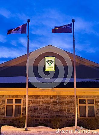 Ontario Provincial Police Building Editorial Stock Image