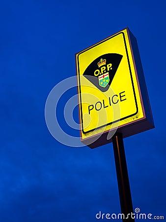 Ontario Provincial Police Sign Editorial Photo