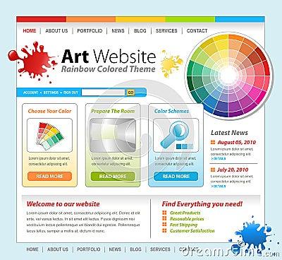 Ontwerp van het Malplaatje van de Website van de Verf van de kunst het Creatieve