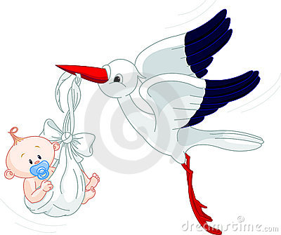 Ooievaar en Baby