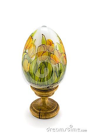 Oostelijk met de hand gemaakt ei, houten,