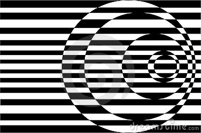 Royalty Free Stock Images: Op Art Contrasting Concentric Circles Black ...