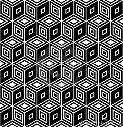 Op art design. Seamless rhombuses pattern.