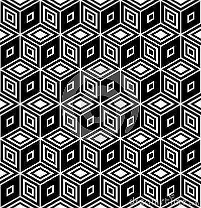 Free Op Art Design. Seamless Rhombuses Pattern. Royalty Free Stock Images - 18797099