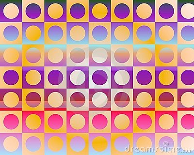 Op Art Go To The Party In Circles By Gradient