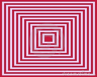 Op Art Homage To The Square Pink Deep Red