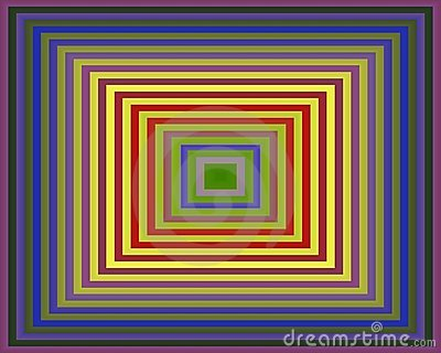 Op Art Homage to the Square Purple To Green