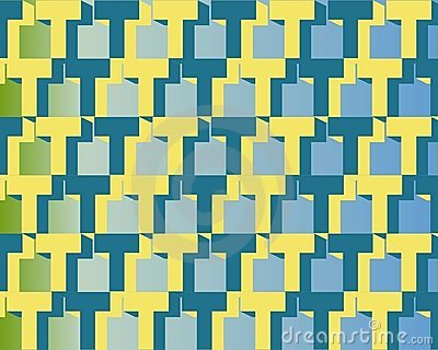 Op Art Homage To T Blue And Yellow