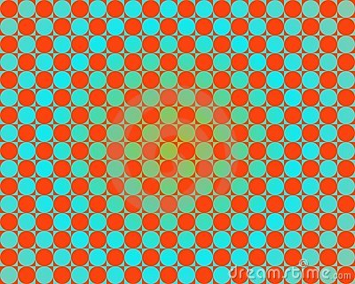 Op Art One Thousand Circles Gradient Light Blue