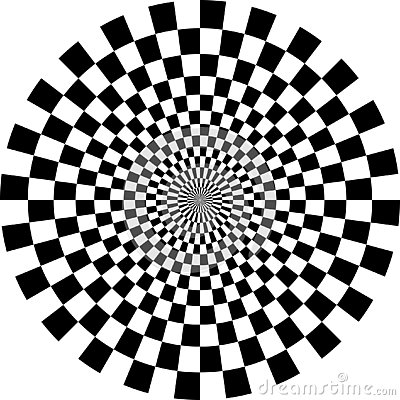 Free Op Art Optical Checkered Circle Royalty Free Stock Images - 144197929