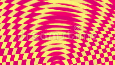 Op Art Patterns. Abstract moving patterns of color in the op-art style royalty free illustration