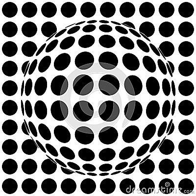 Op-art sphere