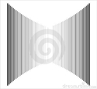 Op Art Vertical Bars Black On White Progressive 01