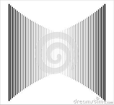 Op Art Vertical Bars Black On White Progressive 01