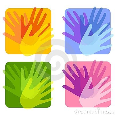 Free Opaque Handprint Backgrounds Royalty Free Stock Photo - 4433735