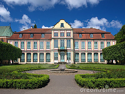 Opatow palace and park in Oliwa