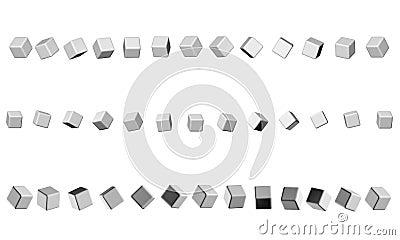 Opeenvolging van kubussen neutrale grijze kleur
