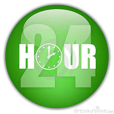 Open 24 hour logo
