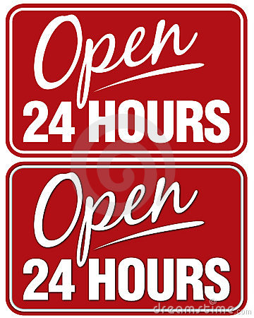 Free Open 24 Hours Stock Images - 167704