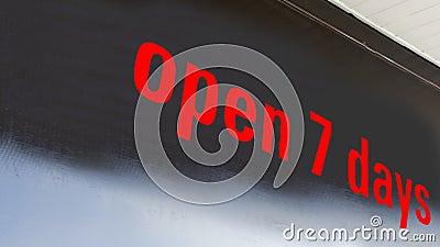 Open 7 days