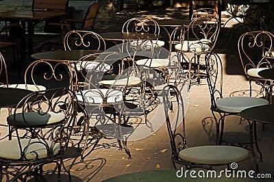 Open-air cafe
