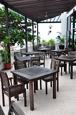 Open-air cafe