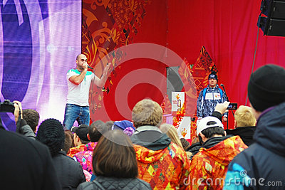 Open air concert in the Gorki recreation park