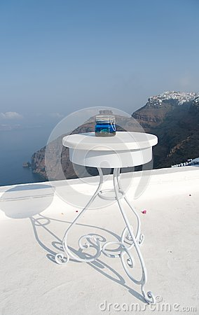 Open air restaurant with sea and mountain view