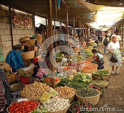 daily open air vegetable market antigua guatemala
