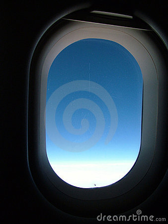 Open airplane window