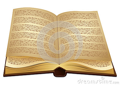 Open ancient Book