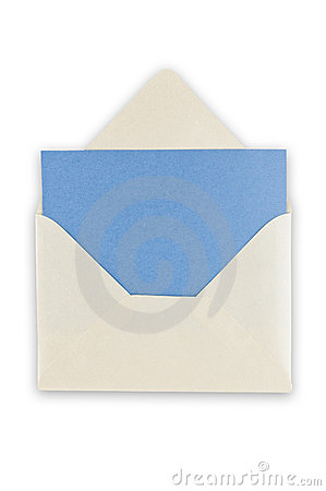 Open balnk white envelope.