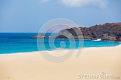 Open beach on a tropical island