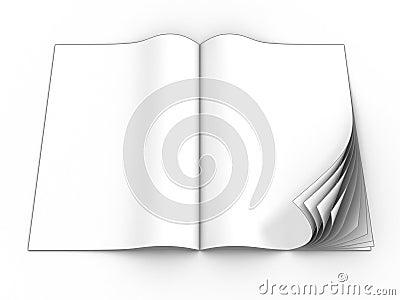Open blank magazine