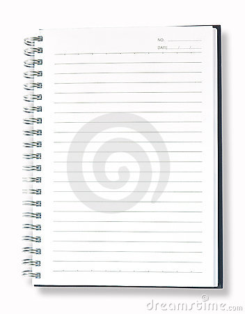 Open Blank Page Blue Note Book