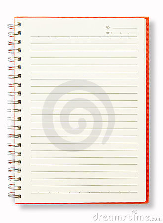 Open Blank Page Orange Note Book
