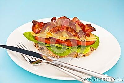 Open blt sandwich