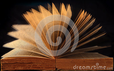 Open book with idea creative
