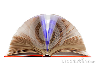 Open book isolated