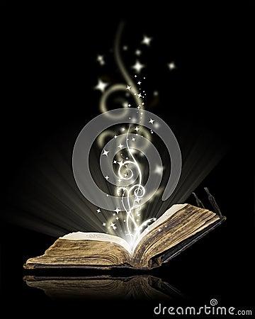 Free Open Book Magic Royalty Free Stock Photo - 21735795