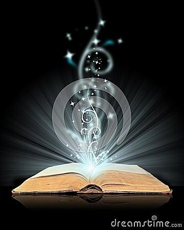 Free Open Book Magic Royalty Free Stock Photos - 7557198