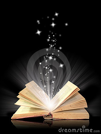 Free Open Book Magic Stock Photography - 7557212