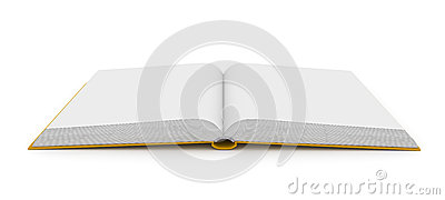 Open Book Over White Background Stock Photography - Image: 25165302