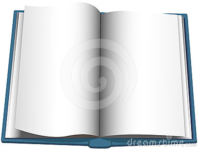 Open Book Page Turn Copyspace Background