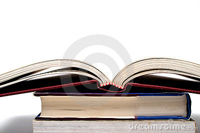 Open book on pile