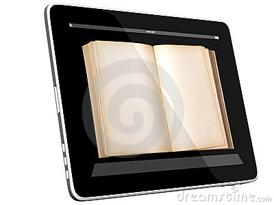 Open Book on Tablet PC Computer