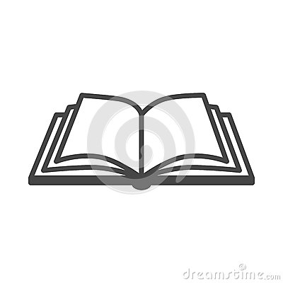 Free Open Book Vector Icon Royalty Free Stock Photography - 53193927